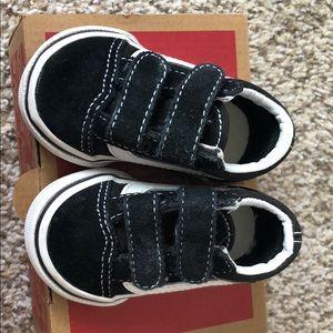 Vans Old Skool V Black Baby/Toddler 2